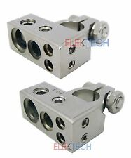 Sound Quest Car/Truck Nickel Battery Terminal Clamp Set Positive & Negative