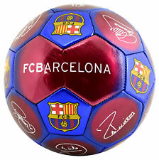 FC BARCELONA Size 5 Ball Signature Football Claret & Blue Euro 16 Gift