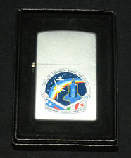"2001 ZIPPO ""STS-100 SPACE SHUTTLE"" SATIN CHROME LIGHTER * NEW in BOX *"