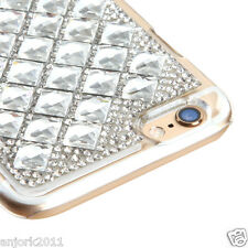 "iPhone 6 (4.7"") Snap Fit Back Cover 3D Bling Gem Case Silver Diamond"