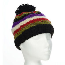 Funky Hand Knit Winter Woollen Beanie Brighton Bobble Hat, One Size, UNISEX BB1