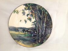 "ROYAL DOULTON HORSES/LOGGING COUNTRY SCENE COLLECTION 10.5"" PLATE EXCELLENT"