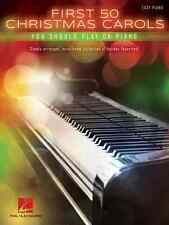 FIRST 50 CHRISTMAS CAROLS YOU SHOULD PLAY ON THE PIANO-EASY PIANO MUSIC BOOK NEW
