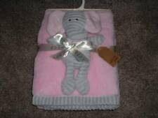 Chick Pea Elephant Plush Toy Blanket Set Baby Infant Girls Pink Gray NWT NEW HTF