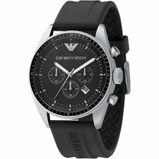 Emporio Armani Black / Silver Quartz Analog Men's Watch AR0527