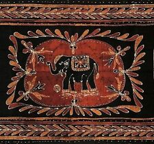 Clrarance Sale Lucky Elephant Batik Print Tapestry Tablecloth Spread Throw Twin