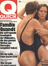 Kult-Illustrierte QUICK, Nr. 50 von 1974, Familie Quandt, William Morton uvm.