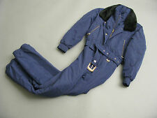 FERA WOMENS ONE-PIECE SKI SNOWMOBILE SUIT RICH BLUE FAUX FUR NECK SIZE 6
