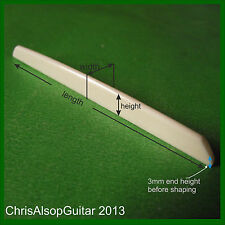 Bone Saddle Para Guitarra Jazz Gypsy Guitarra/diseñados para adaptarse por Chris Alsop PS021