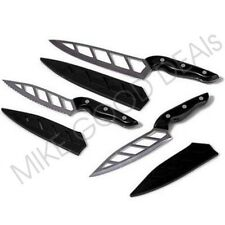 Simply Ming 6-piece Aero Knife Gourmet Set With Sheath Knives Set Chop Blade BLK