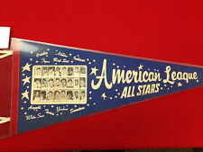 1965 All Star Pennant Mickey Mantle Brooks Robinson ROOKIE Picture RARE! Blue