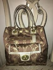 Coach Signature Collection Metallic Gold Handbag
