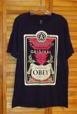 """OBEY PROPAGANDA T-SHIRT 7'4"""" 520 LBS. ANDRE THE GIANT LARGE BLACK"""