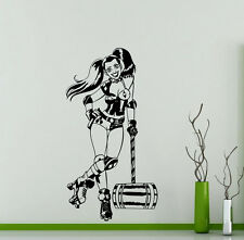 Harley Quinn Wall Decal Comics Superheroes Vinyl Sticker Art Decor Mural (321su)