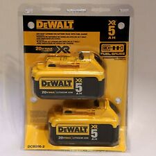 NEW DEWALT DCB205-2 PACK (2) CORDLESS  20 VOLT 5.0 AH LITHIUM ION BATTERY PACKS