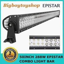 50INCH 288W Led Light Bar Spot Flood Combo Work Driving SUV JEEP Off-road Lamp