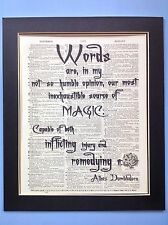 Harry Potter Dumbledore Words Are In My Magic Gift Idea Antique Dictionary Art