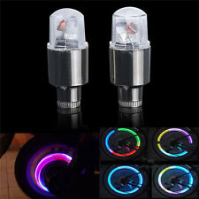 2 pcs Bike Motorcycle Car Wheel Tire Tyre Valve Cap Spoke LED Flash Light Lamp