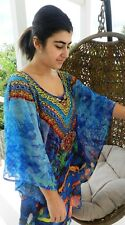 Embellished Kaftan Dress Top Blue Spicy Sugar Evening Cocktail Size 10 Last One