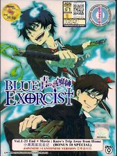 DVD BLUE EXORCIST VOL.1-25 END + MOVIE: KURO'S TRIP AWAY FROM HOME+SPECIAL 1-10
