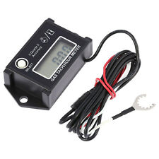 Tachometer Tach/Hour Meter RPM Tester Thermometer for 2/4 Stroke Engine Moto
