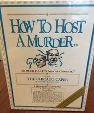 "NEW How To Host A Murder ""The Chicago Caper"" Adult Mystery Dinner Party Game"