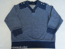 ☆ NEXT Boys BLue Striped 100% Cotton Jumper Sweater Top Age 5 years ☆