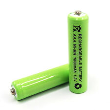 12pc AAA LR3 R03 1800mAh Ni-MH Rechargeable Battery Green 3A Cell Power 1.2V
