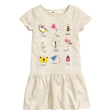 H&M H M Girls Dress- Birds, Flowers, Bees, Ladybugs, Butterfly, Dragonfly, 4 5 6