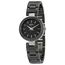 DKNY Stanhope Black Dial Black Ceramic Ladies Watch NY2355