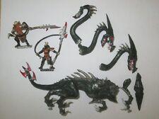 Warhammer Fantasy Dark Elves metal OOP War Hydra with Beastmasters/handlers