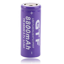 1pc 3.7V 26650 8800mAh Li-ion Rechargeable Battery For LED Flashlight Torch DT