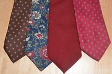 Vintage Tie Lot of 4 Red Wool Silk Italy Scotland Necktie Givenchy Polyester