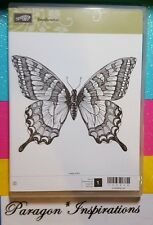 NEW Retired Stampin Up SWALLOWTAIL Clear Mount Background Stamp Large Butterfly