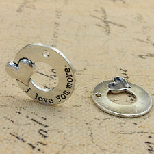 2 Pcs  English Proverbs Love Letter Necklace Simple Pendant Family DIY Gifts HOT