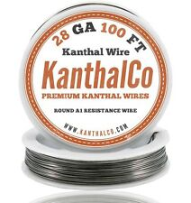Kanthal Wire 28 Gauge AWG A1 Round 100ft Roll 0.32mm 5.27 ohms/ft. Resistance