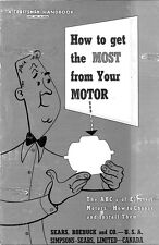 1954 Craftsman 9-1900 How to get the MOST from your MOTOR Instructions