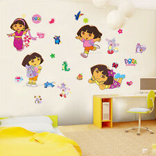 Wall Sticker Dora Explorer Girls Decor Kids Removable PVC Art Decals Home UKWS