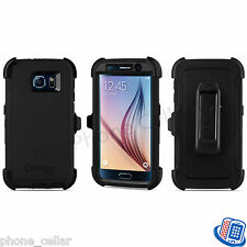 New OEM Otterbox Defender Series Black Shell Case for Samsung Galaxy S6