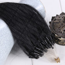 "100S 16""18""20""22""26""100% Remy Human Hair Extensions Loop Micro Ring Beads"