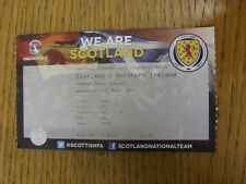 25/03/2015 Ticket: Scotland v Northern Ireland [At Hampden Park] (folded). Thank