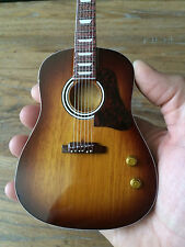 Beatles John Lennon Vintage Sunburst Acoustic Miniature Guitar