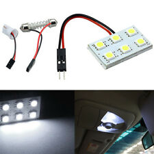 6 SMD 5050 LED T10 BA9S Dome Striscia Interni Auto Pannello Luminoso Lampada 12V