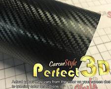 Perfect-3d Negro 1520mm X 300mm De Fibra De Carbono Vinilo Wrap (cerca de 3m 1080 sf-12)