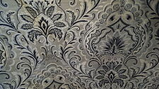 PAISLEY TAUPE GRAY CREAM BLACK  UPHOLSTERY FABRIC