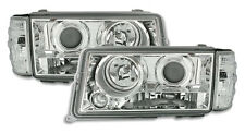 Clear chrome finish projector headlights set for MERCEDES W201 83-93