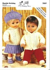 TEDDY KNITTING PATTERN 7207 - CLOTHES OUTFITS FOR DOLLS & PREMATURE BABIES - NEW