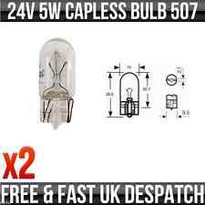 24v 5w Senza bulbo W5W W2.1 x 9.5d Lato e Posteriore Lampadine 507 x2