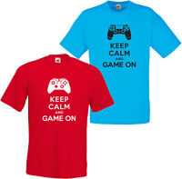 KEEP CALM & GAME ON 360 XBOX ONE PS3 PS4 FUNNY MENS T SHIRT SM-3XL PLAYSTATION