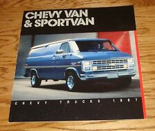 Original 1987 Chevrolet Van & Sportvan Sales Brochure 87 Chevy